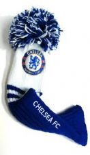 Official Chelsea FC Pompom GOLF Driver Headcover